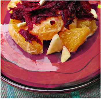 Apple Orange Beet Appetizer