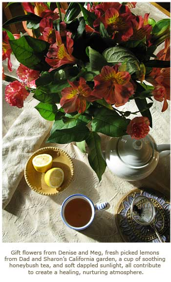 Still life with Flowers and Tea